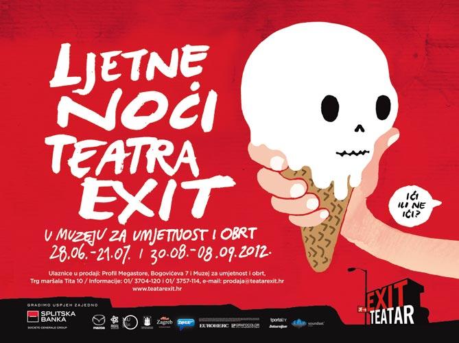 Ljetne noći Teatra EXIT u Muzeju za umjetnost i obrt od 28.06 do 21.07. i od 30.08. do 8.09.2012.