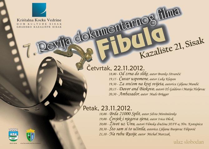 7. Revija dokumentarnog filma Fibula u Sisku od 22. do 23. studenog 2012.