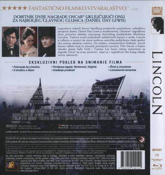 Stražnja strana blu rayja 'Lincoln'