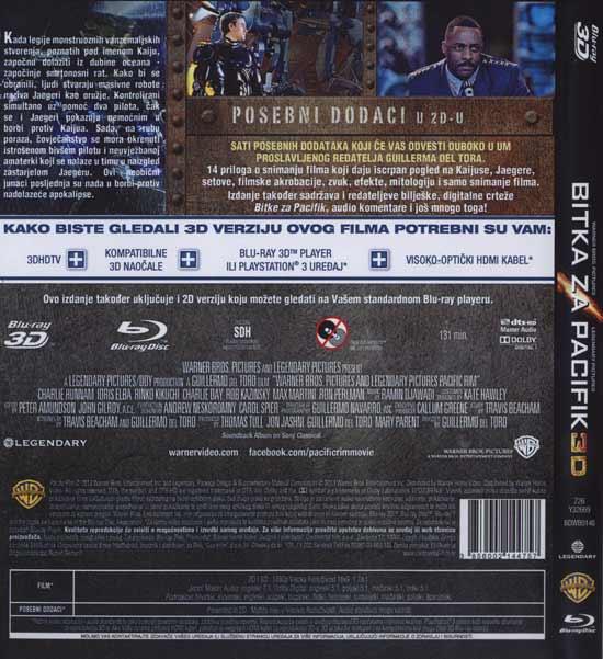 Stražnja strana Blu Raya 'Bitka za Pacifik 3D'