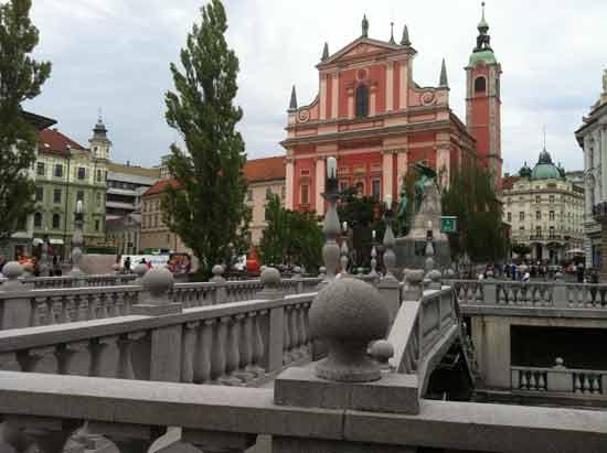 Ljubljana Tromostovje ; Foto AJ