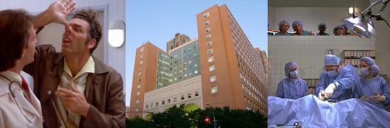 Bolnica u kojoj Kramer traži čovjeka svinju i baci bombone u pacijenta pri operaciji