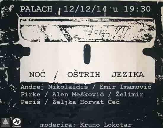 Noć oštrih jezika – književni susret treće vrste u riječkom Palachu