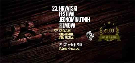 23. hrvatski festival jednominutnih filmova: Nagrade